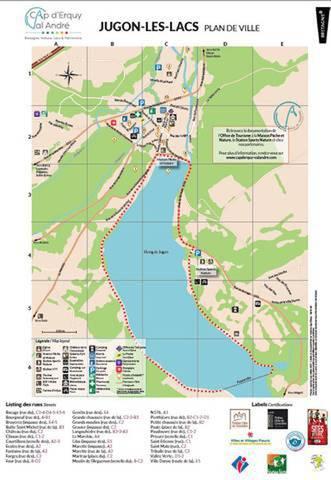 Stadtplan von Jugon-les-Lacs