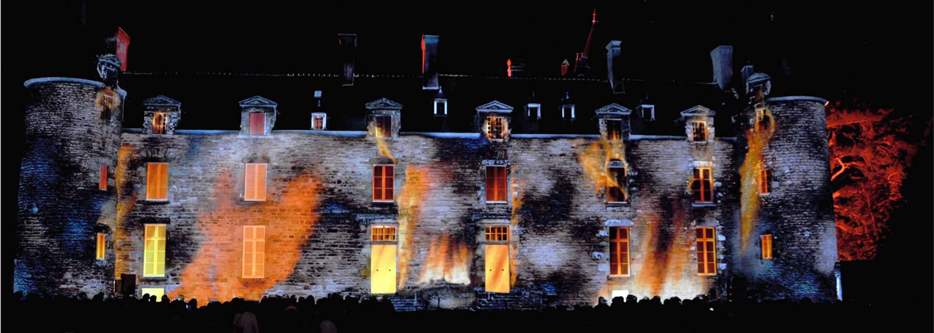 Château de Bienassis de nuit
