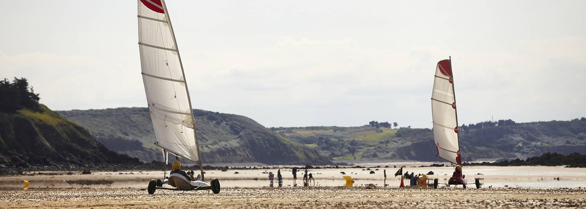 Char à voile plage de Caroual à Erquy