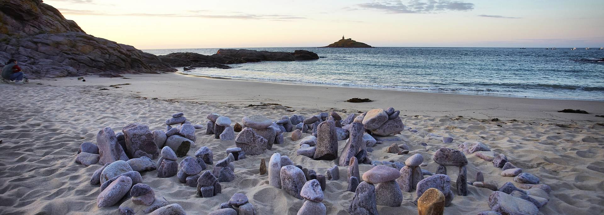 îlot et plage saint-michel à Erquy