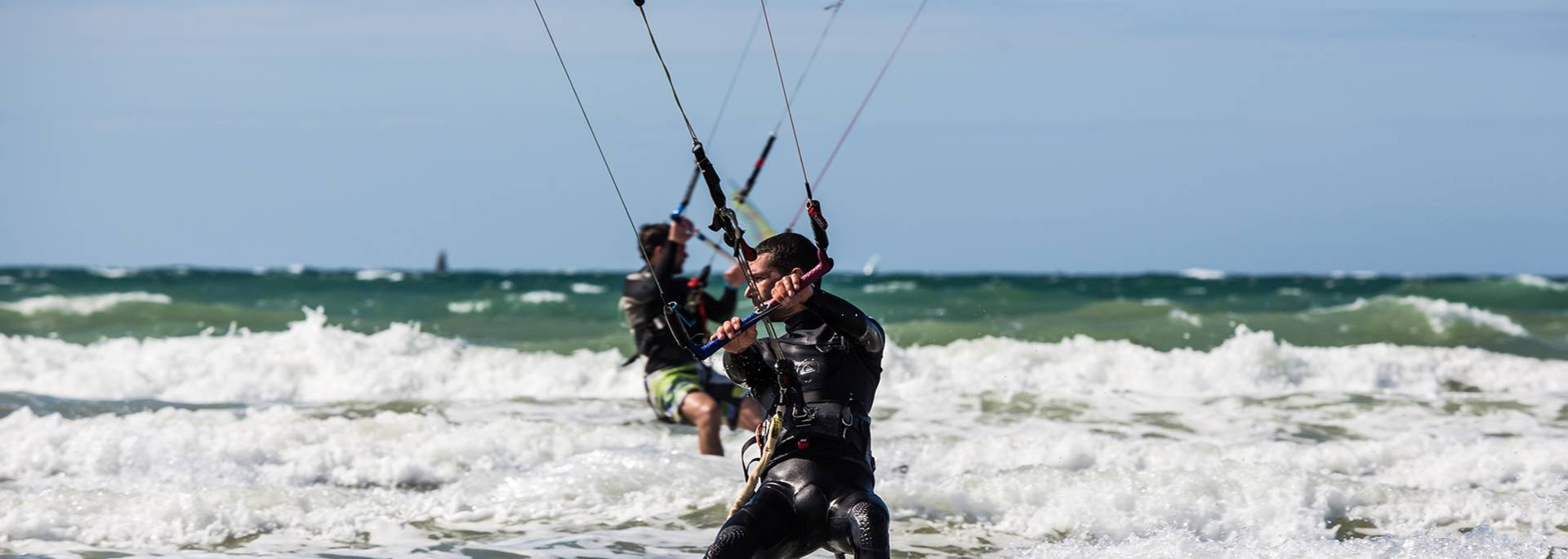 Session de kitesurf