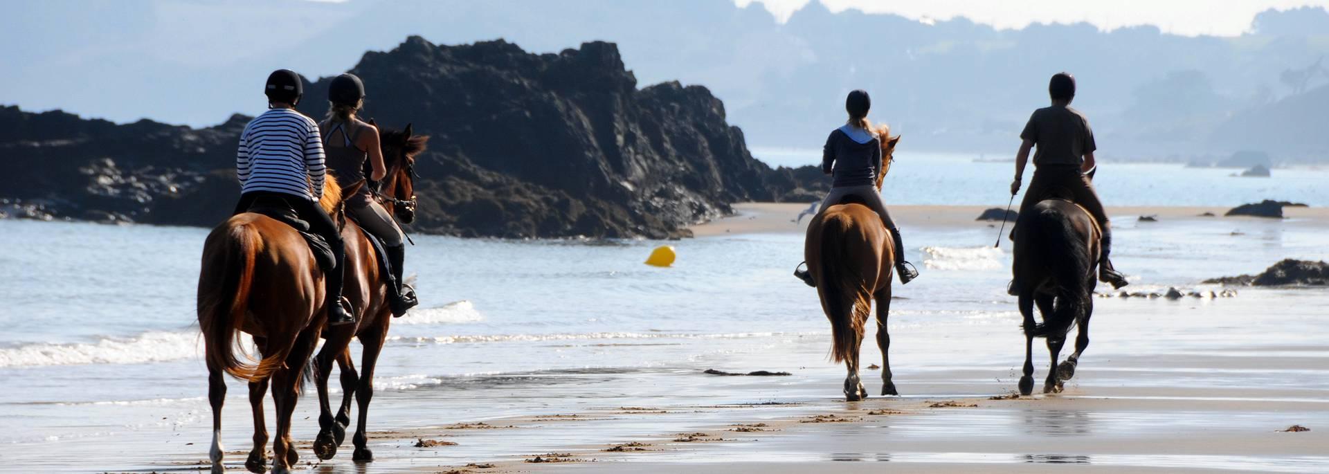 A cheval à la plage ©F.Hamon