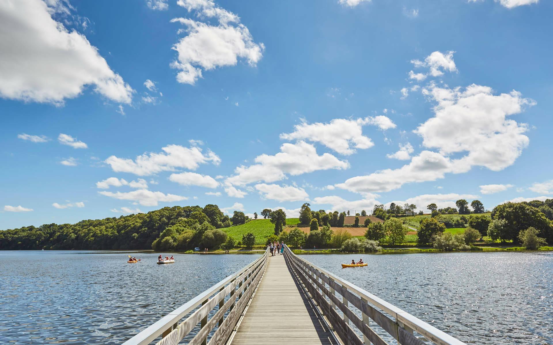 Passerelle Jugon-les-Lacs ©A.Lamoureux