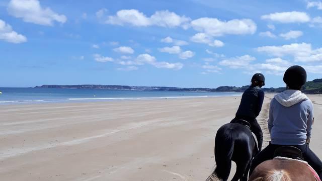 A cheval à la plage