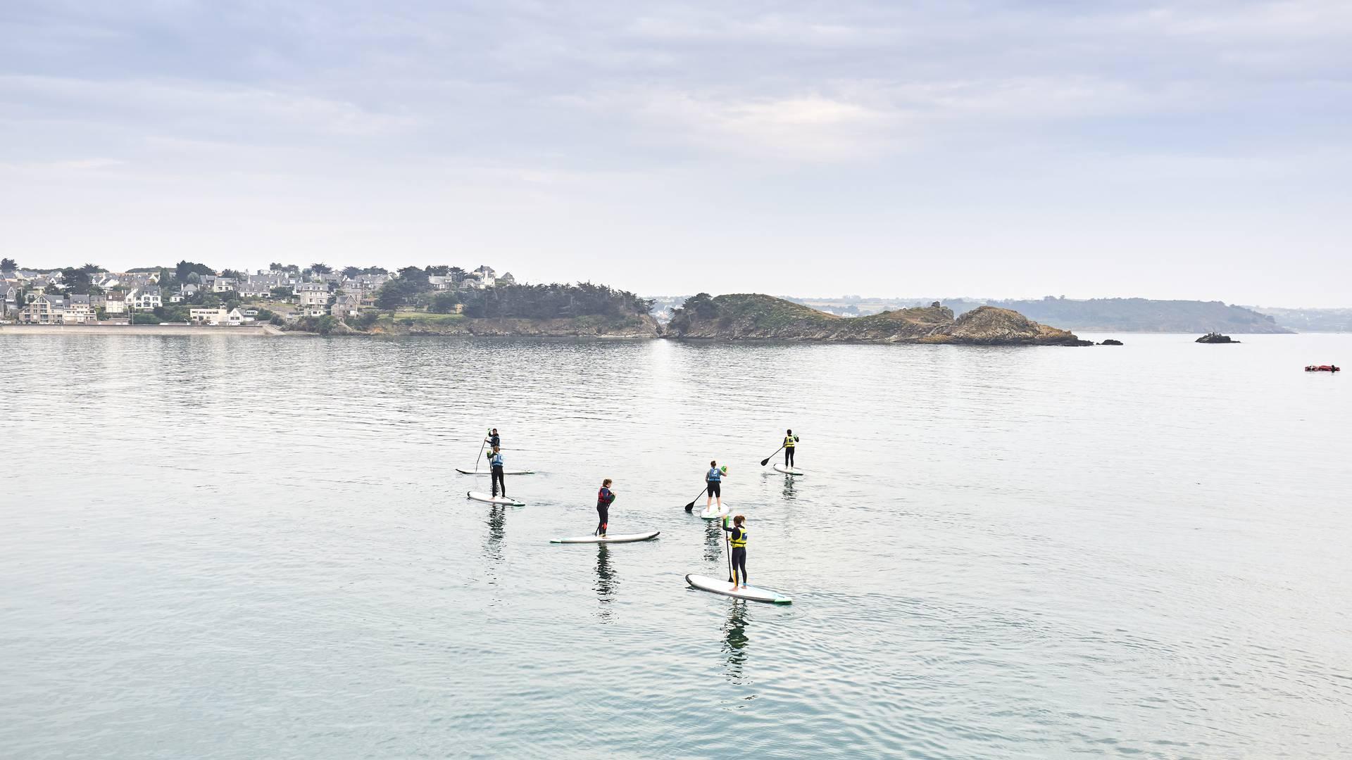 Paddles dans la baie d'Erquy
