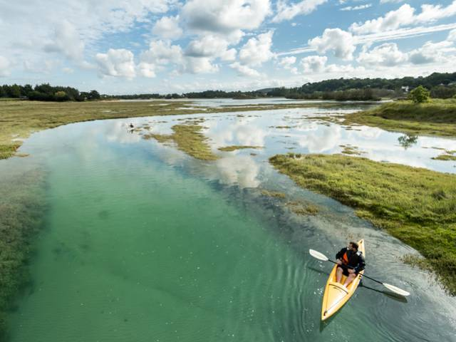 en kayak à Plurien