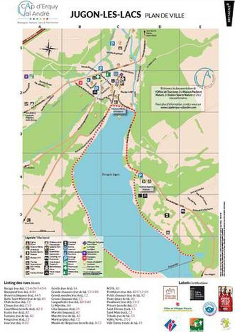 Jugon-les-Lacs Map
