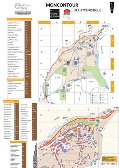 Stadtplan von Moncontour