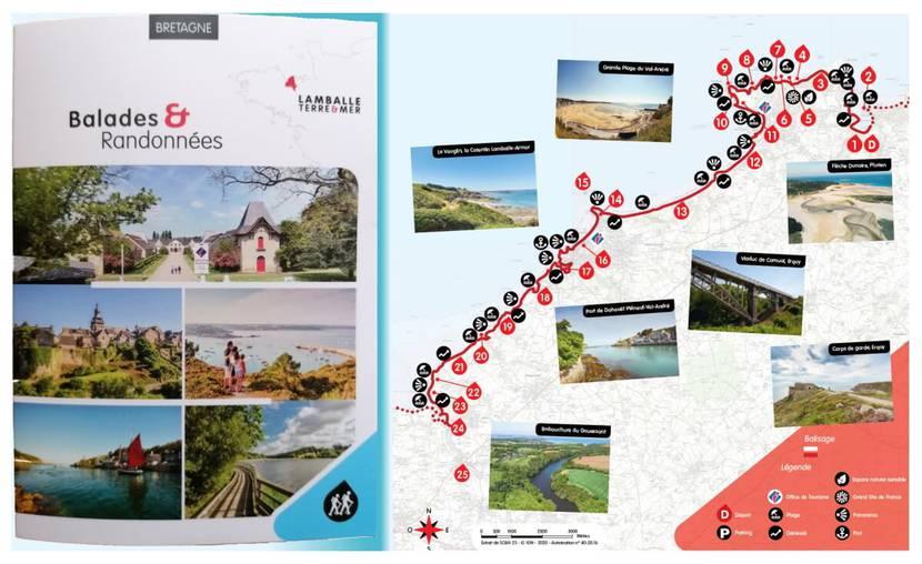 Topo randonnées GR34 - circuit n°1 - De Plurien à l'embouchure du Gouessant